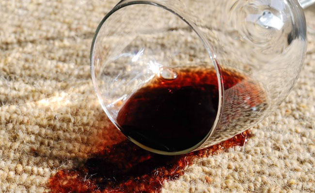 Accidental Damage, for example a wine carpet stain